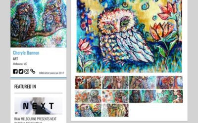 Owl love and intuitive art