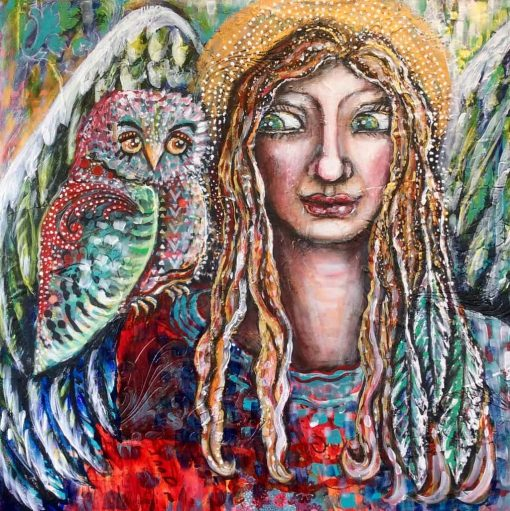 Angel and owl