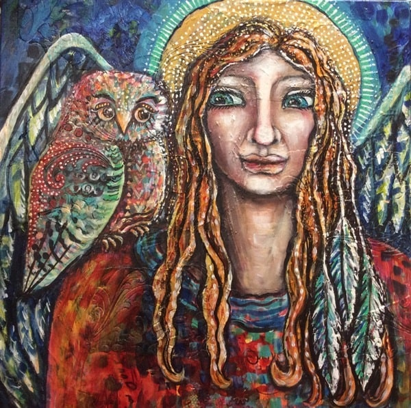 Angel and owl