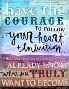 Intuition follow your heart quote