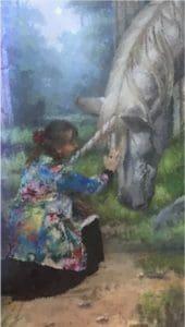 Patting a unicorn