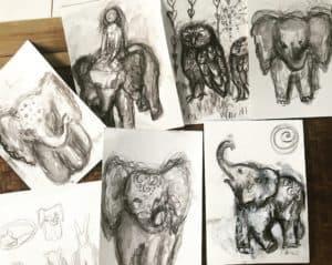 Spirit animal travel drawings