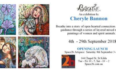 Art show by Melbourne artist Cheryle Bannon