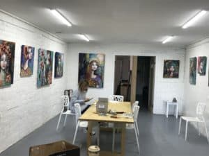 Back room of gallery