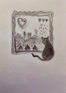 Dreaming heart window