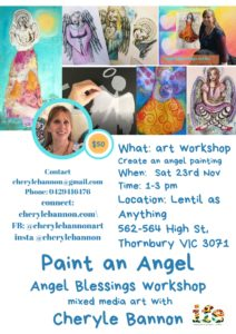 Angel blessings workshop flyer
