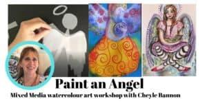 Paint an angel header