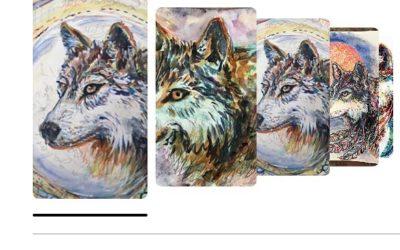 Wild wisdom wolf art