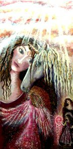 Lady and Unicorn p: original art by Cheryle Bannon