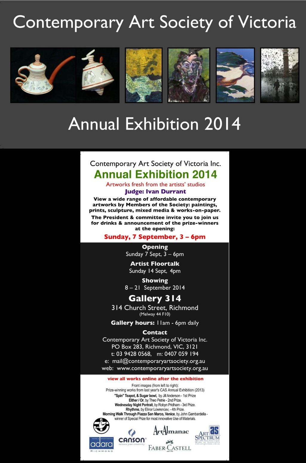Info for CAS Annual Exhibition