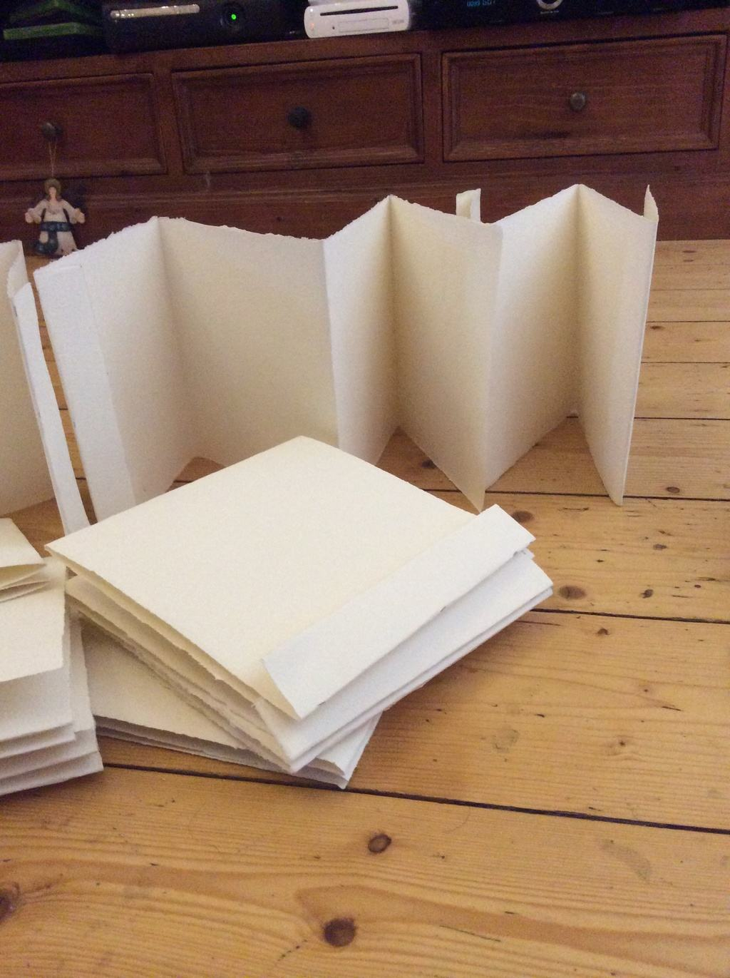 My starting point for my accordion book project