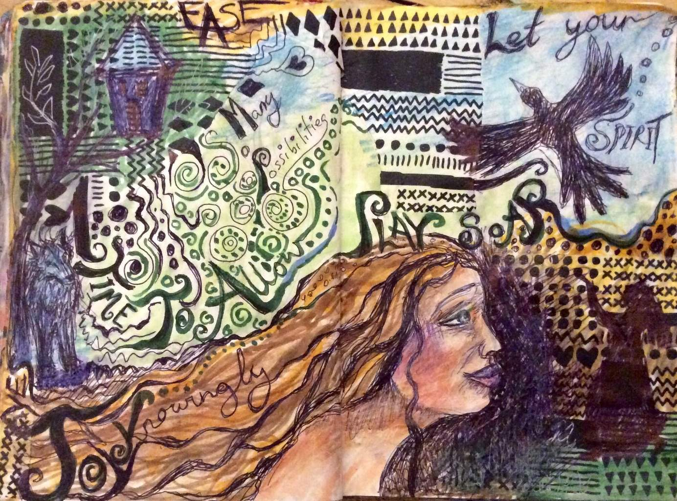 Joy journal page. Original artwork by Cheryle Bannon©.
