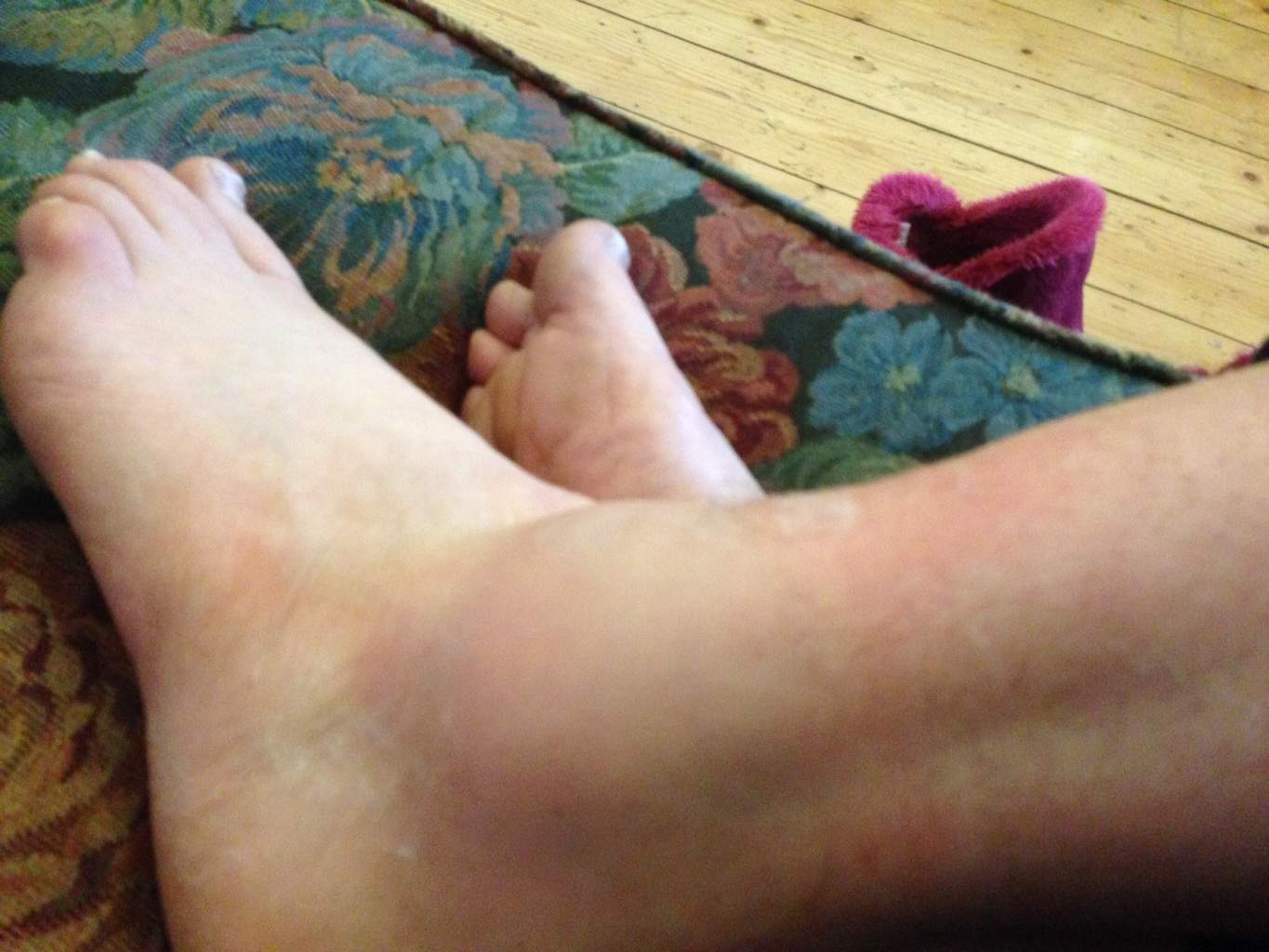 My left ankle...resting...