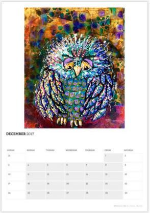 little owl calendar page