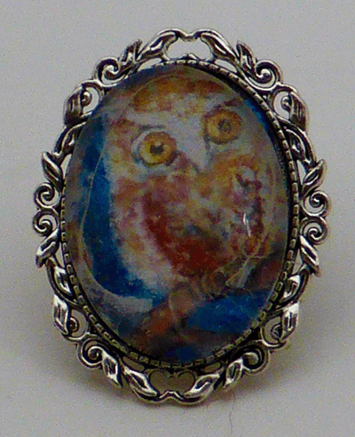 Lower. Resolution owl brooch