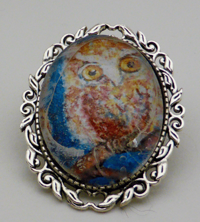 Owl brooch- better resolution