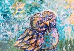 Owl guidance cards: just sittin