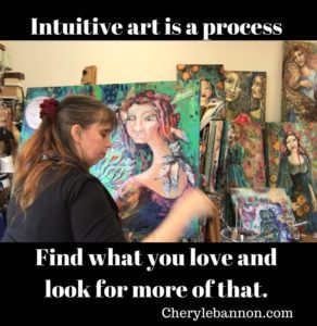 Intuitive art is a process