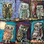 Owl paintings wip