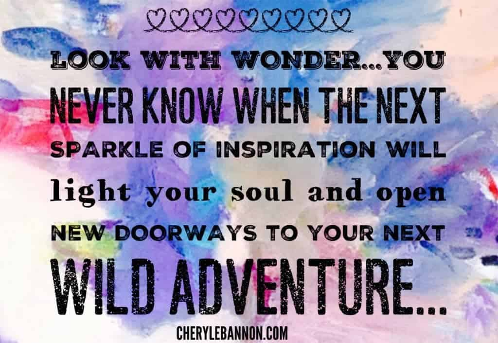 Look with wonder quote