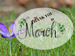 Thank you March