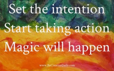 Setting creative intentions