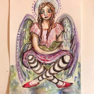 Stripy legged angel