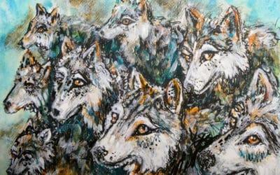 Evolving wolf art story
