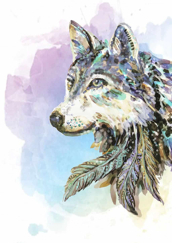 wolf print A4 +